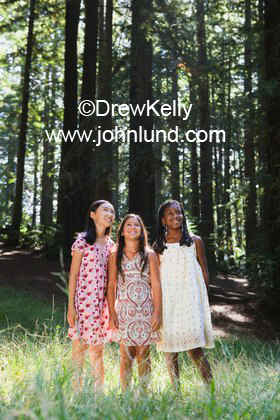 Lovely Adorable Young Multi Ethnic Girl Friends Standing